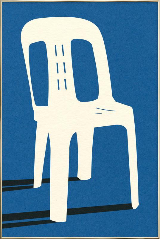 Monobloc Plastic Chair No II Poster in Aluminium Frame