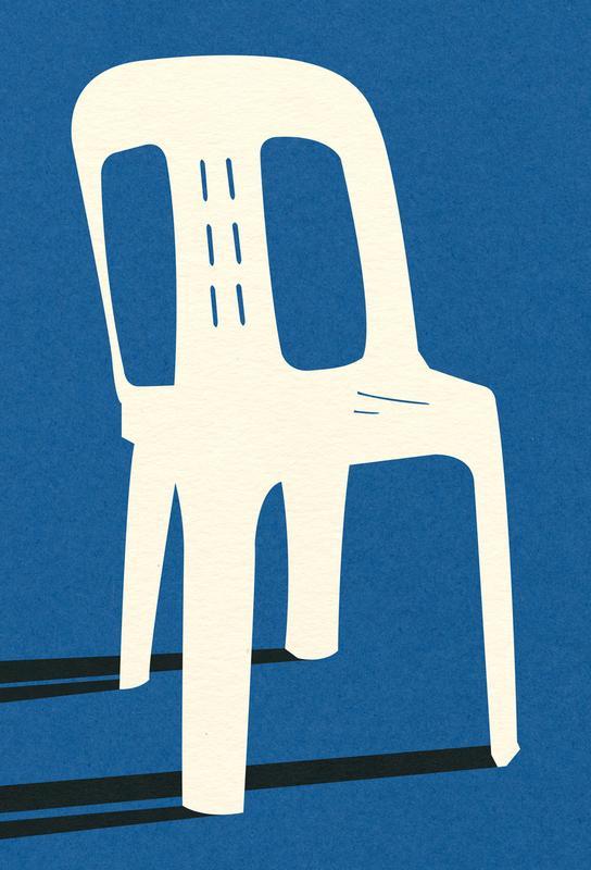 Monobloc Plastic Chair No II tableau en verre