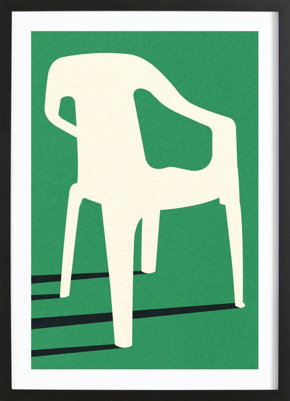 Monobloc Plastic Chair No III ingelijste print