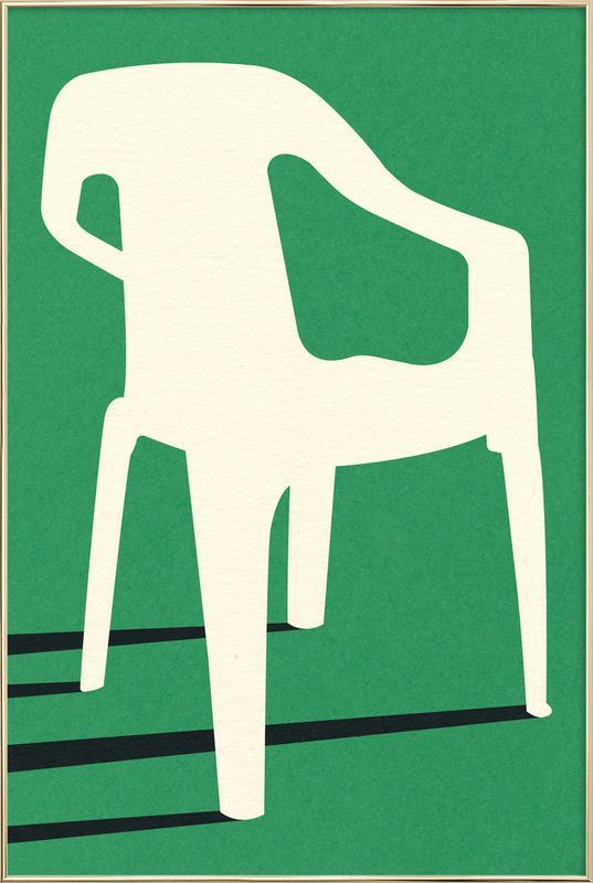 Monobloc Plastic Chair No III poster in aluminium lijst