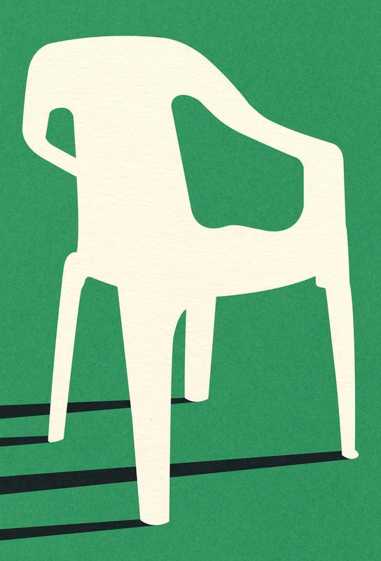 Monobloc Plastic Chair No III -Acrylglasbild