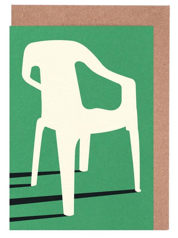 Monobloc Plastic Chair No III Greeting Card Set