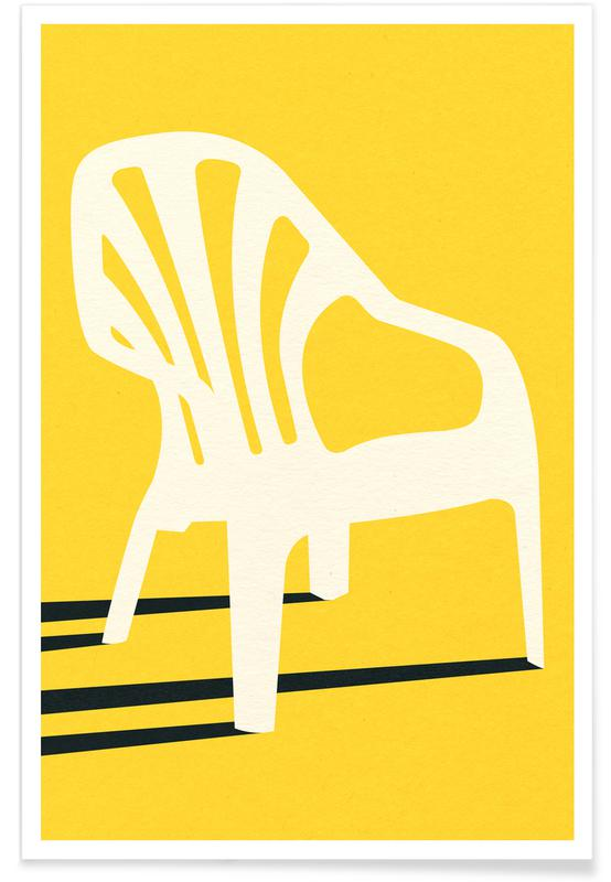 Monobloc Plastic Chair No VI -Poster