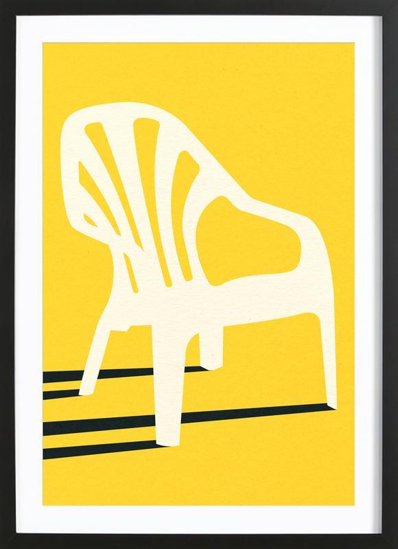 Monobloc Plastic Chair No VI Framed Print