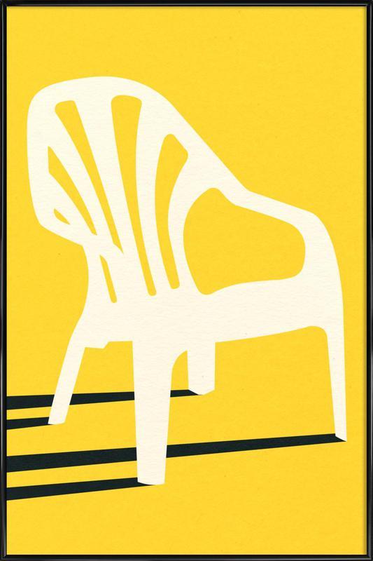 Monobloc Plastic Chair No VI Framed Poster