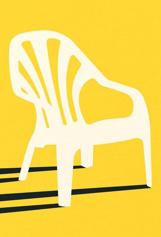 Monobloc Plastic Chair No VI acrylglas print