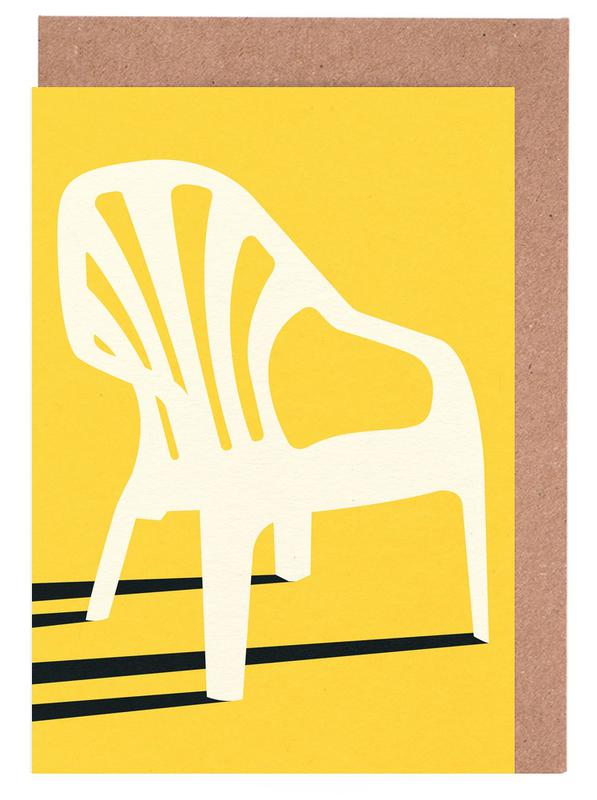 Monobloc Plastic Chair No VI Greeting Card Set