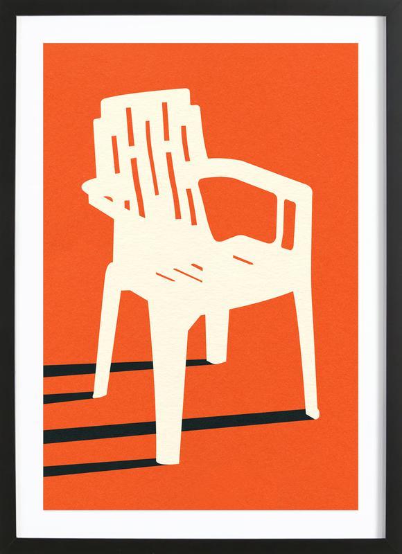 Monobloc Plastic Chair No VII ingelijste print