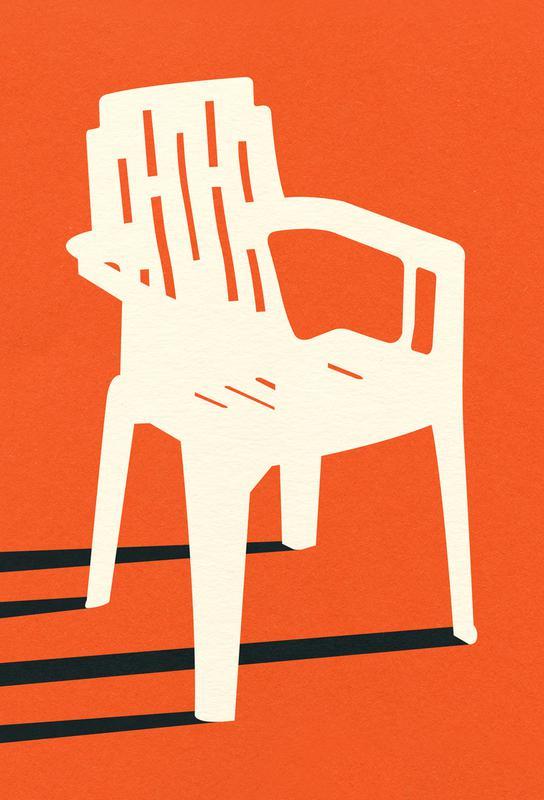 Monobloc Plastic Chair No VII Impression sur alu-Dibond