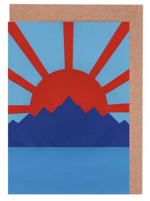 Ocean Moutains Rising Sun -Grußkarten-Set
