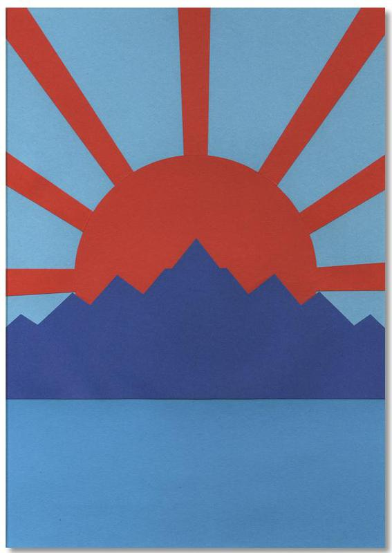 Sonnenuntergänge, Ocean Moutains Rising Sun -Notizblock
