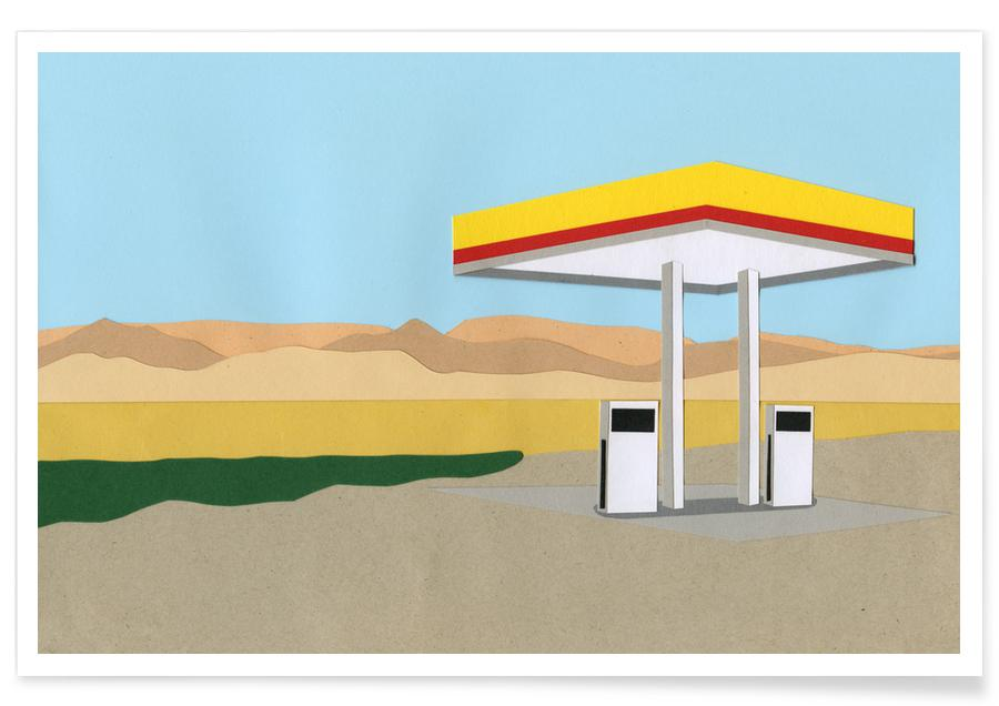 , Gas Station Death Valley -Poster