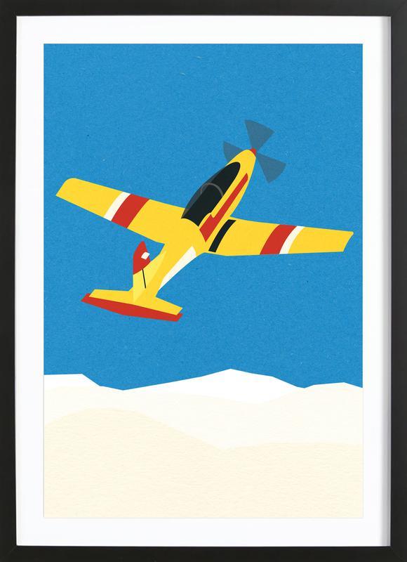 Pilatus PC-7 Solo Display ingelijste print