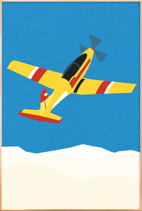 Pilatus PC-7 Solo Display poster in aluminium lijst