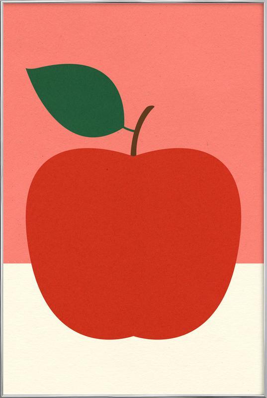 Red Apple poster in aluminium lijst