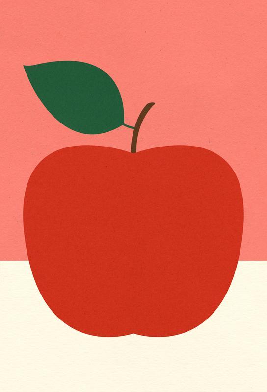 Red Apple -Alubild