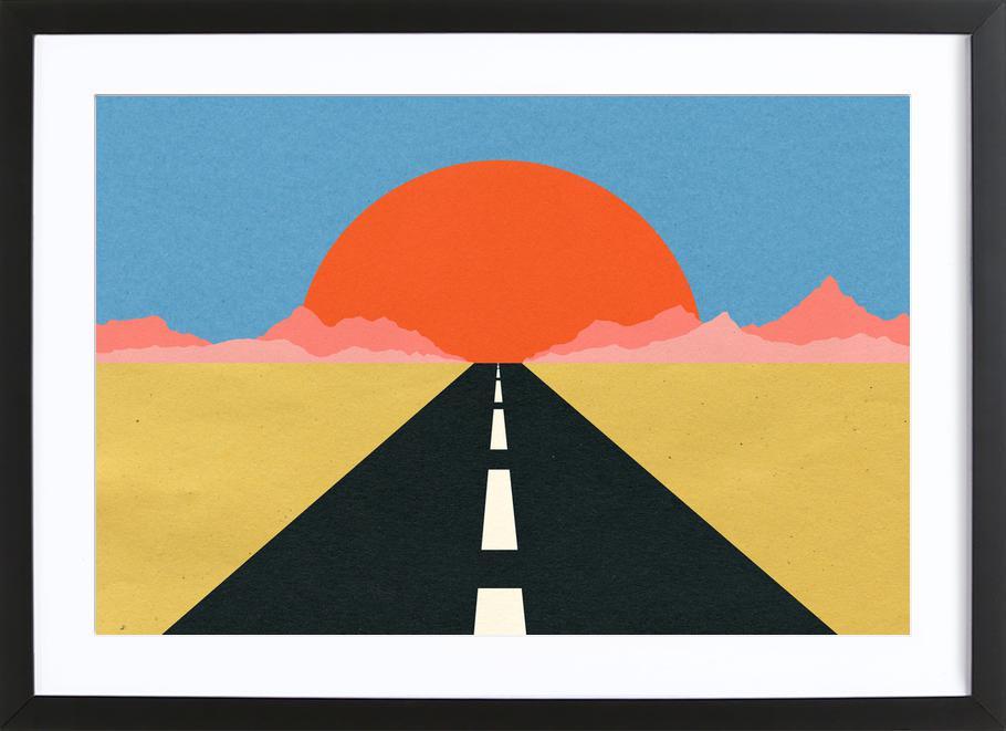 Road to Sun ingelijste print
