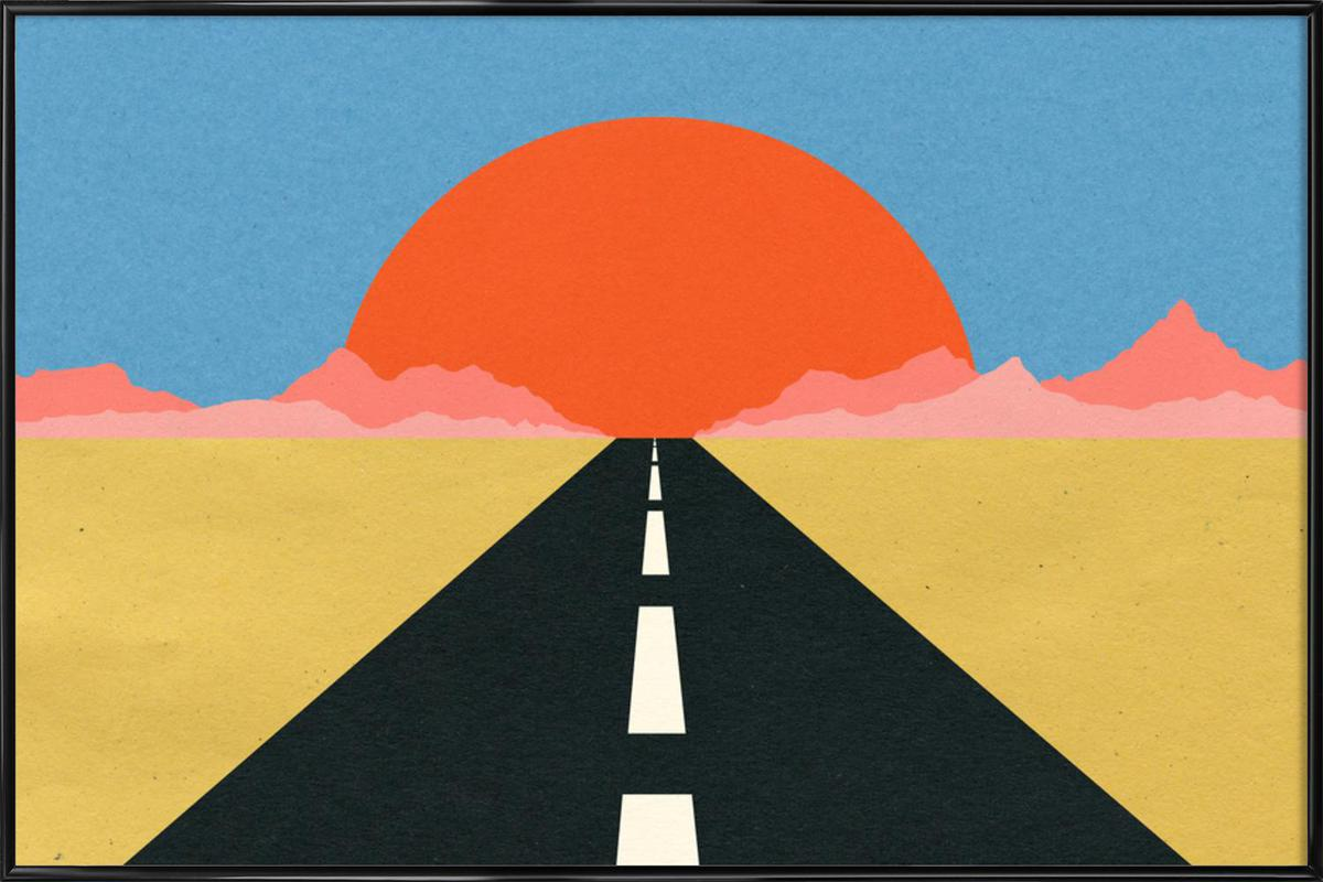 Road to Sun ingelijste poster