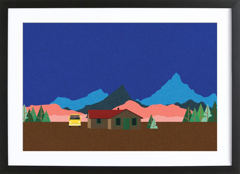 Sierra Nevada Mountain Hut ingelijste print