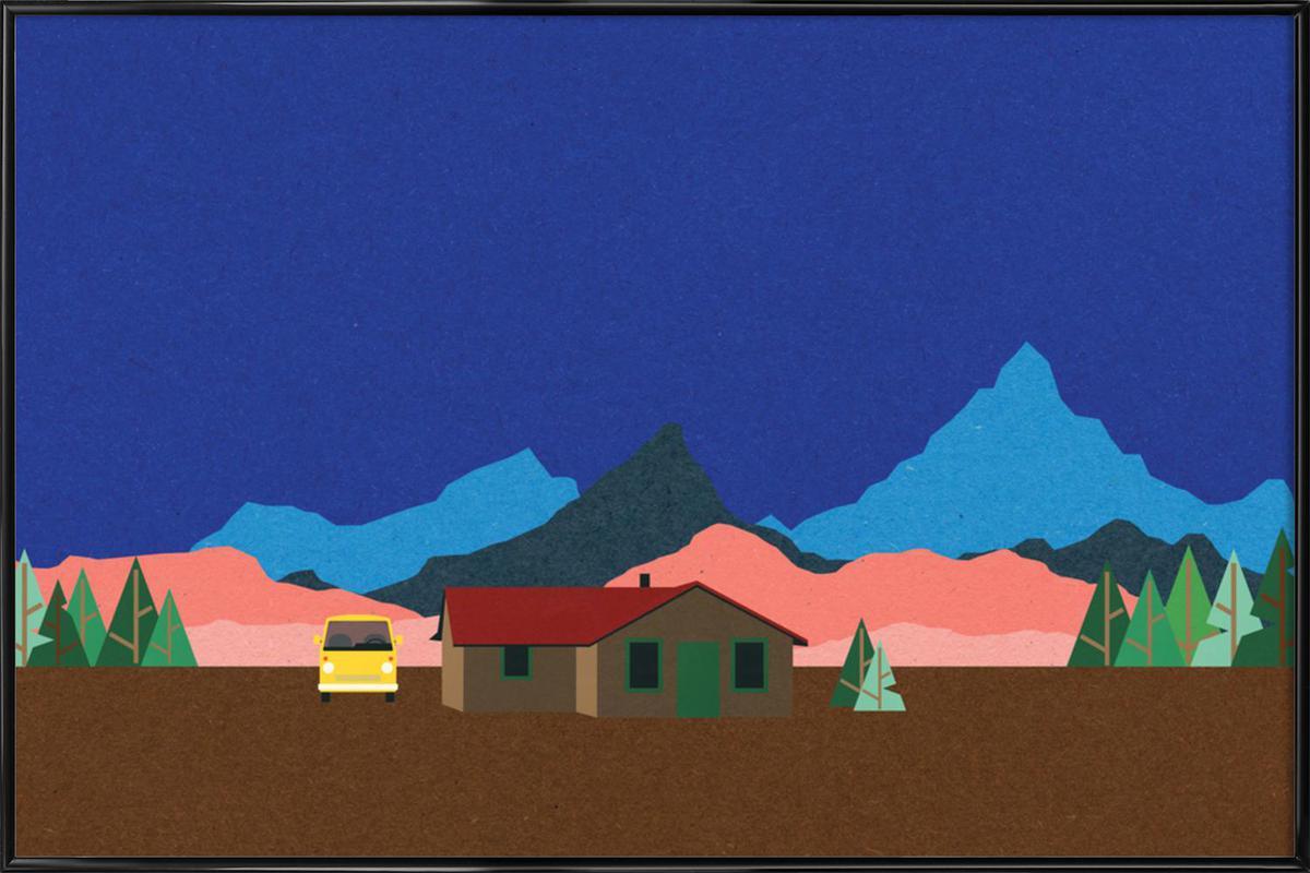 Sierra Nevada Mountain Hut ingelijste poster