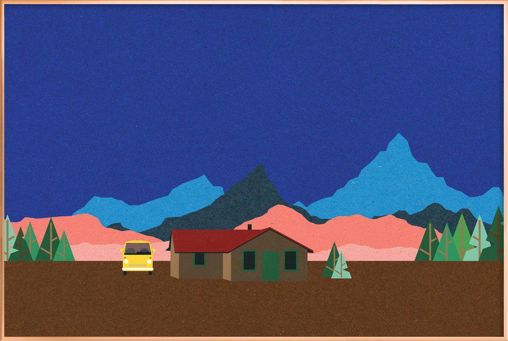 Sierra Nevada Mountain Hut poster in aluminium lijst