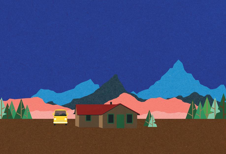 Sierra Nevada Mountain Hut acrylglas print