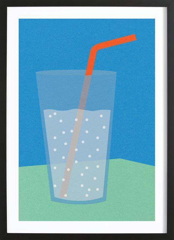 Sparkling Lemonade -Bild mit Holzrahmen