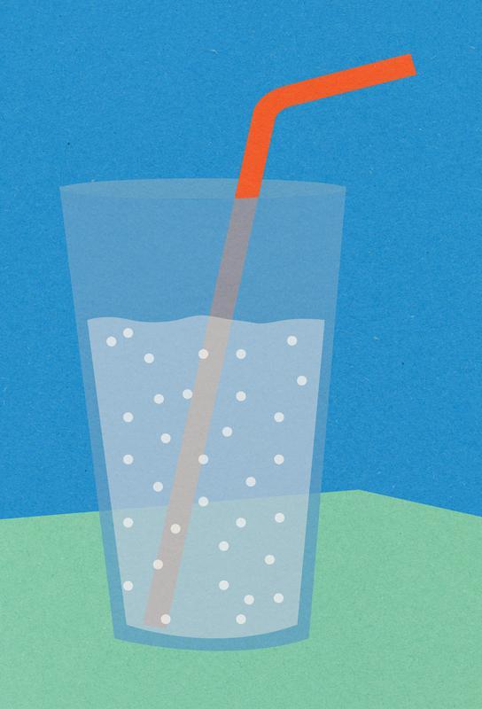 Sparkling Lemonade -Acrylglasbild