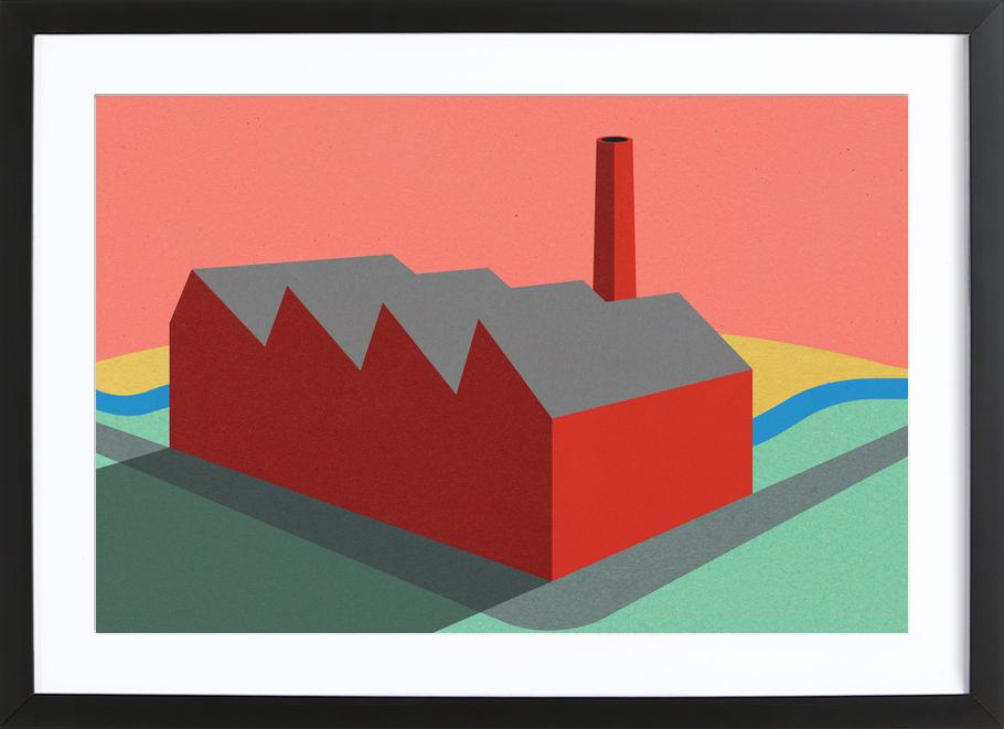 Sunset Factory ingelijste print