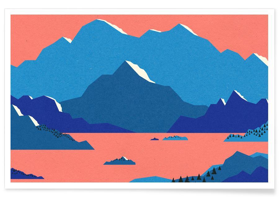 Mountains, Swedish Morning II Poster