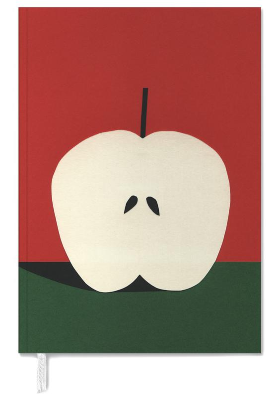 Half Red Apple Personal Planner