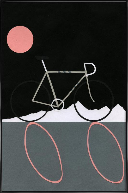Tour de Noir ingelijste poster