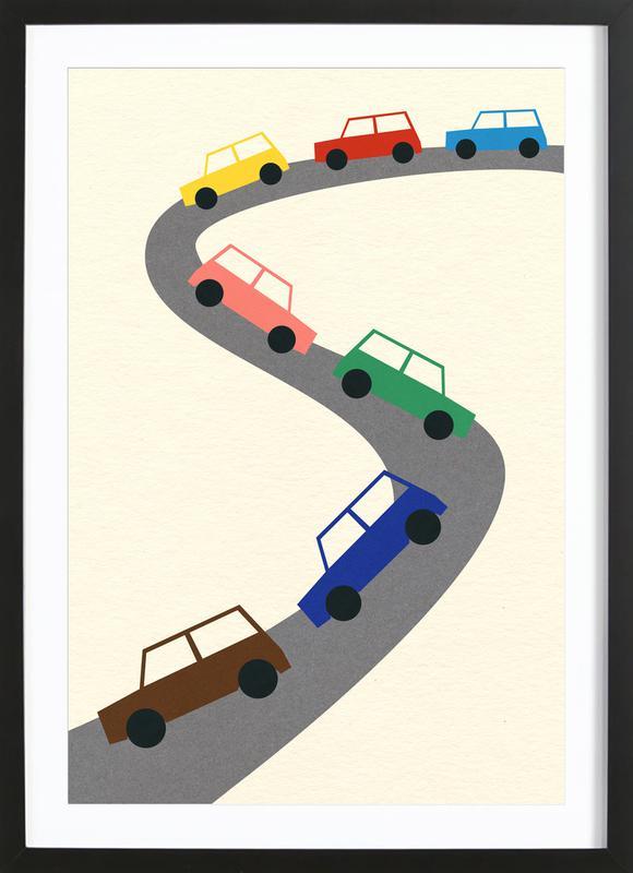 Traffic ingelijste print