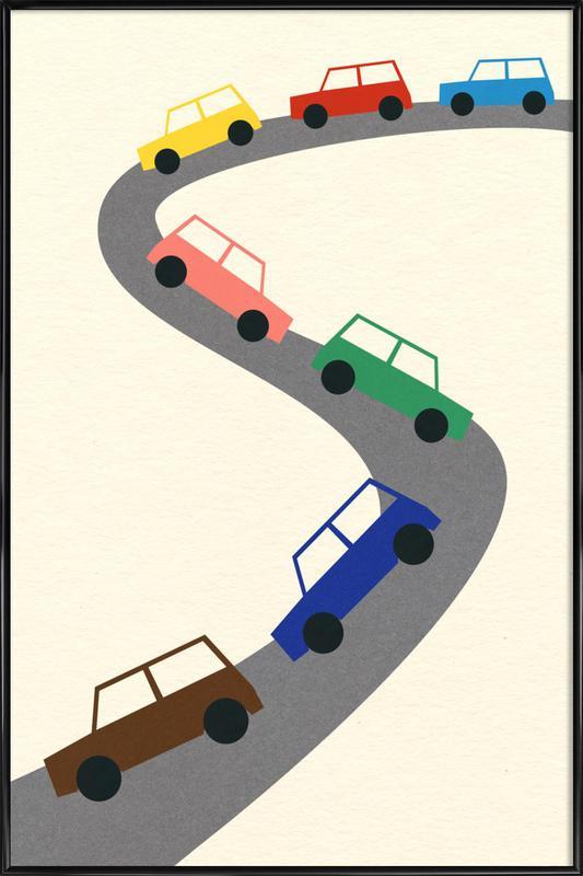 Traffic -Bild mit Kunststoffrahmen