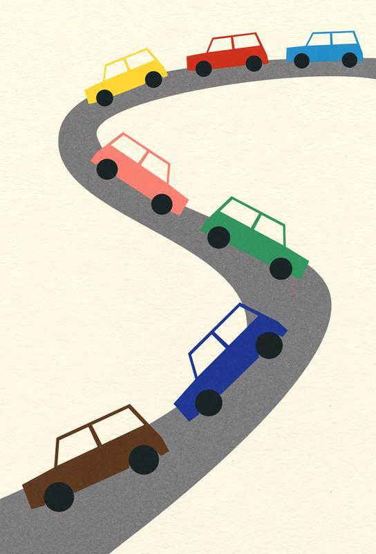 Traffic -Acrylglasbild