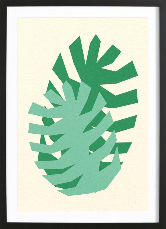 Two Palm Leaves ingelijste print
