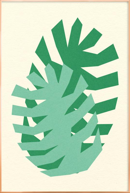 Two Palm Leaves -Poster im Alurahmen
