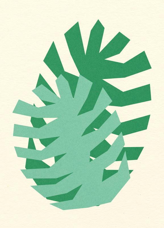Two Palm Leaves -Leinwandbild