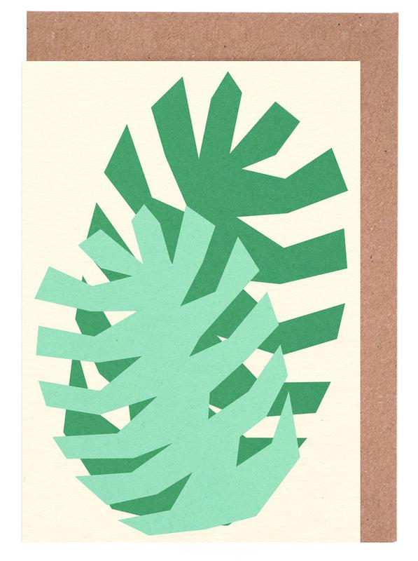 Two Palm Leaves Greeting Card Set