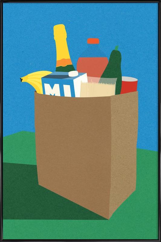 Weekly Grocery Haul -Bild mit Kunststoffrahmen