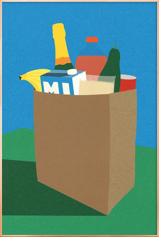 Weekly Grocery Haul poster in aluminium lijst