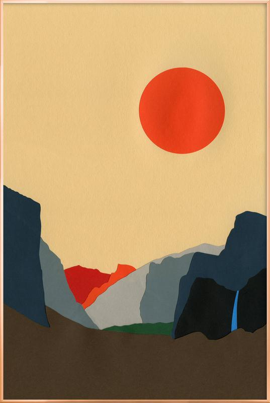 Yosemite Valley poster in aluminium lijst