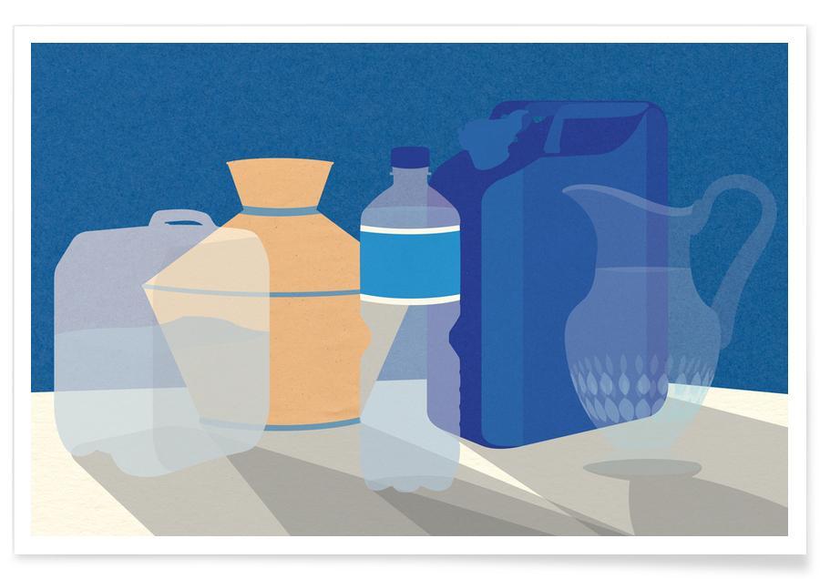 5 Wasserbehälter -Poster