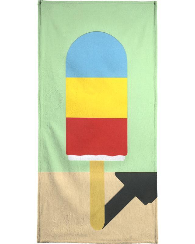 Eiscreme, Kinderzimmer & Kunst für Kinder, Ice Henry -Handtuch