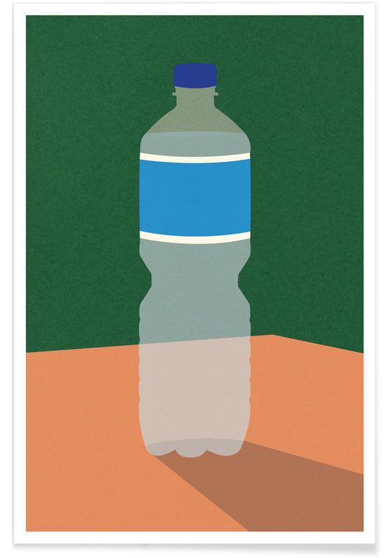Wasserflasche poster
