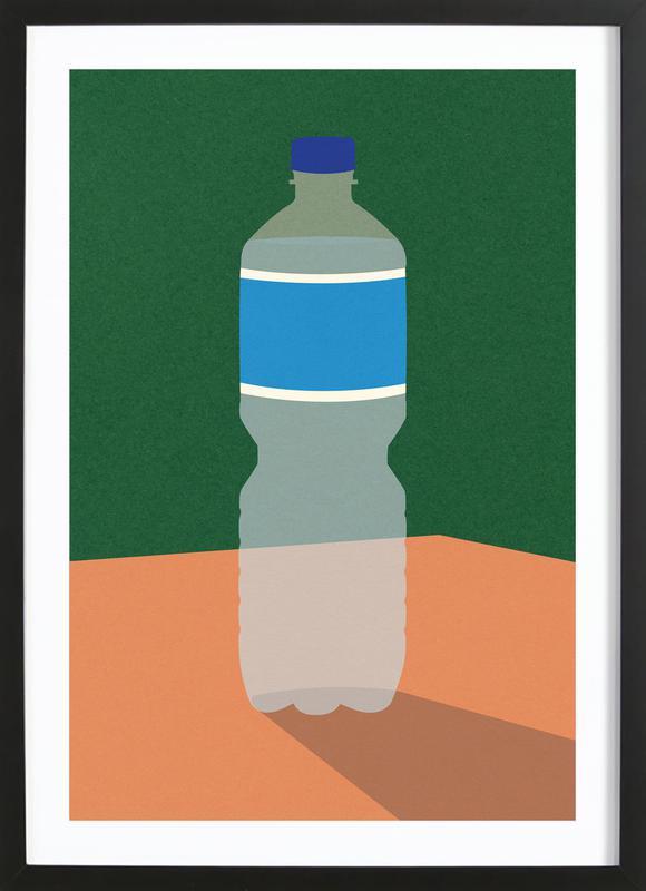 Wasserflasche -Bild mit Holzrahmen