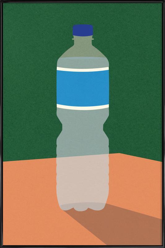 Wasserflasche ingelijste poster