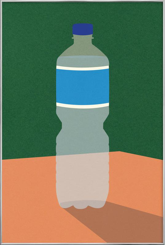 Wasserflasche poster in aluminium lijst