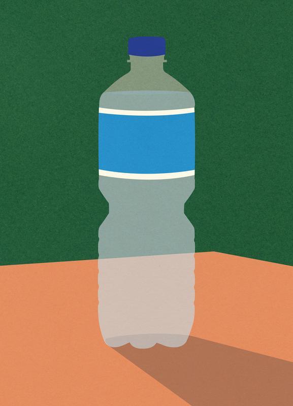 Wasserflasche canvas doek