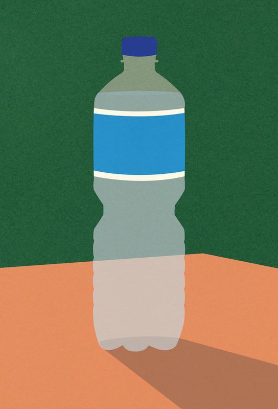 Wasserflasche -Alubild